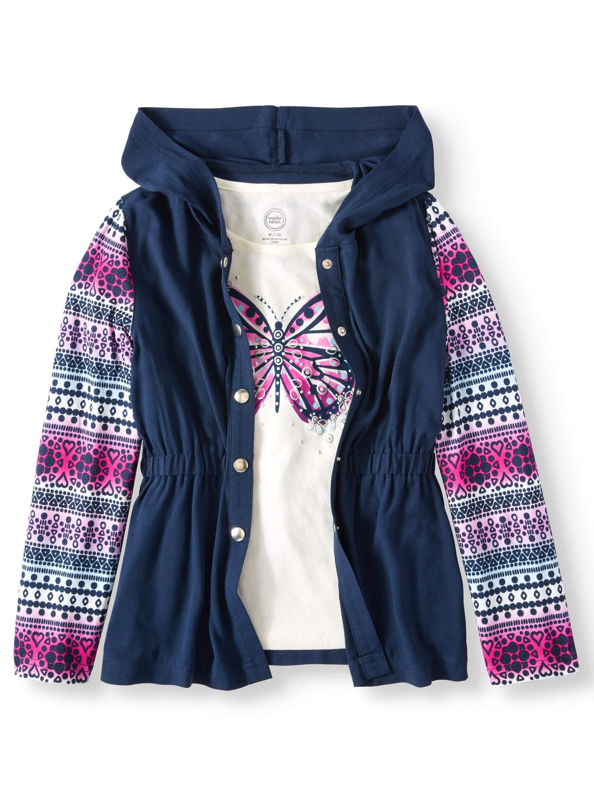 Challis Anorak Jacket and Graphic T-Shirt, 2-Piece Set (Little Girls & Big Girls)