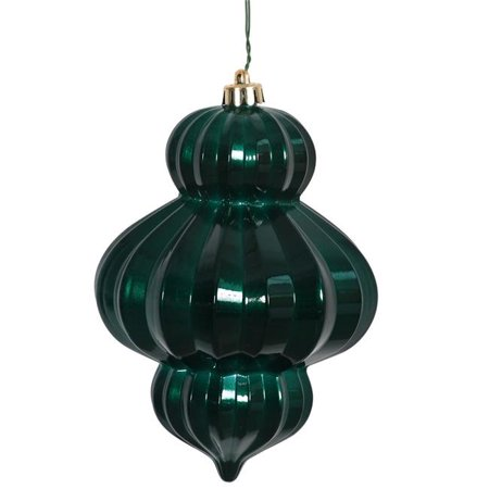 Teal Candy UV Drilled Lantern Ornament - 6 in. - 3 Per (Teal Drill)