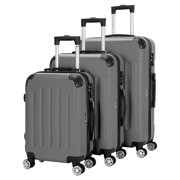 Best Hard Suitcases - 3Pcs Luggage Set PC+ABS Trolley Spinner 20/24/28 Suitcase Review