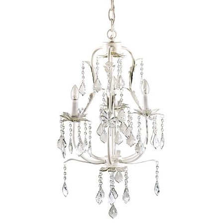 Elegant 3 Tier Creamy White Sparkling Teardrop Crystal Chandelier Accent Lamp Arm White Flower Crystal Chandelier