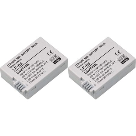 Canon External Battery Pack - Replacement Battery For Canon LP-E8 (2 Pack)