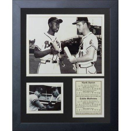 Legends Never Die Hank Aaron & Eddie Mathews Framed Photographic Print