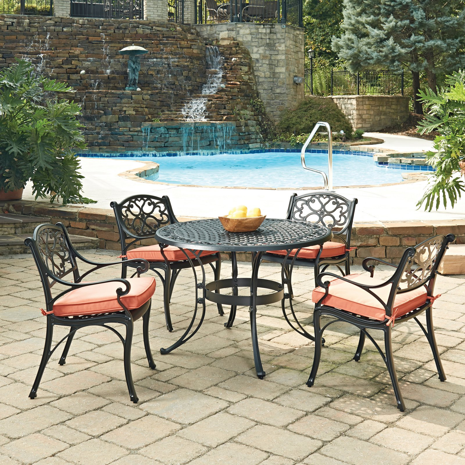 Biscayne Black 5PC Dining Set