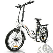 "ECOTRIC E-Ride Electric Bike Waterproof Lightweight Foldable 20"" inch 350W 36V Electric Bicycle eBike Removable Battery 7 Speed"