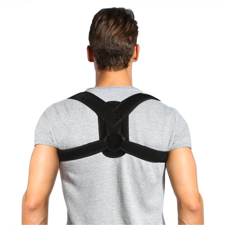 Posture Corrector Brace and Clavicle Support Straightener for Upper Back Shoulder Forward Head Neck Aid, Improve and Fix Poor Posture for Women Men (M(28''-35''