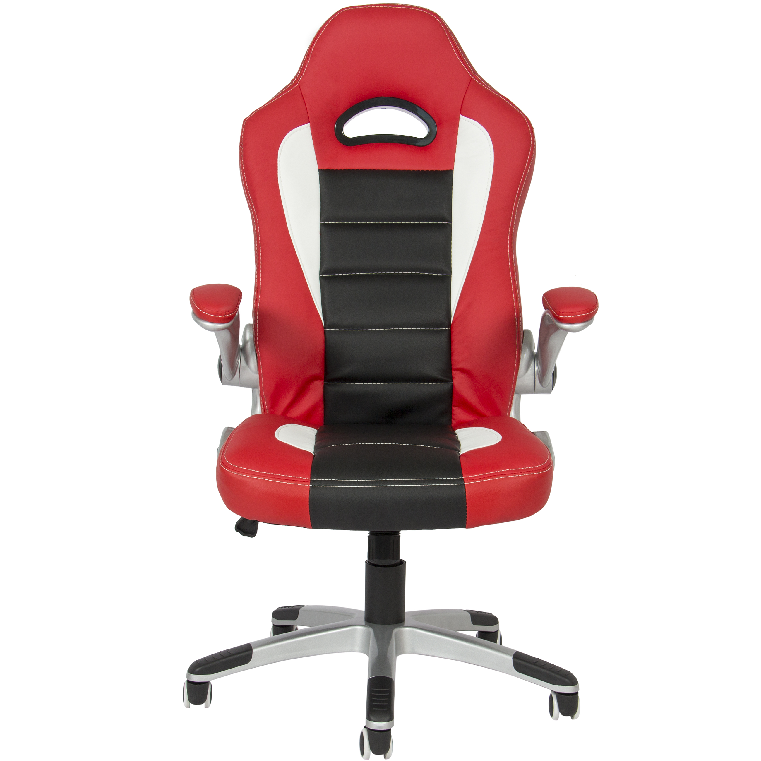 furniturebox computer swivel red black style white desk wr leather racing office chair bk sports