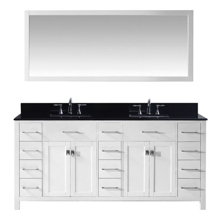 Virtu Md 2172 Bgsq Wh 002 Caroline Parkway 72 Inch Double Bathroom Vanity Set In White