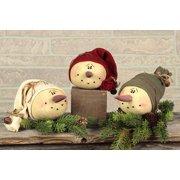 Snowman with Ski Hat Ornament Set