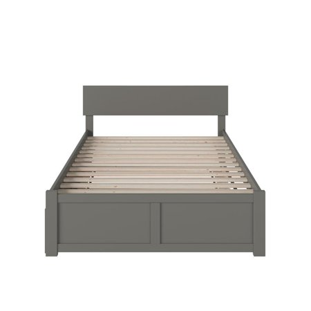 Atlantic Furniture Orlando Full Platform Panel Bed with Trundle in Gray - image 1 of 5