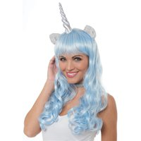 Magical Unicorn Wig Adult Costume Accessory Silver