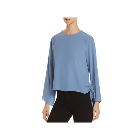 Vince Camuto Womens Side Tie Long Sleeves Blouse