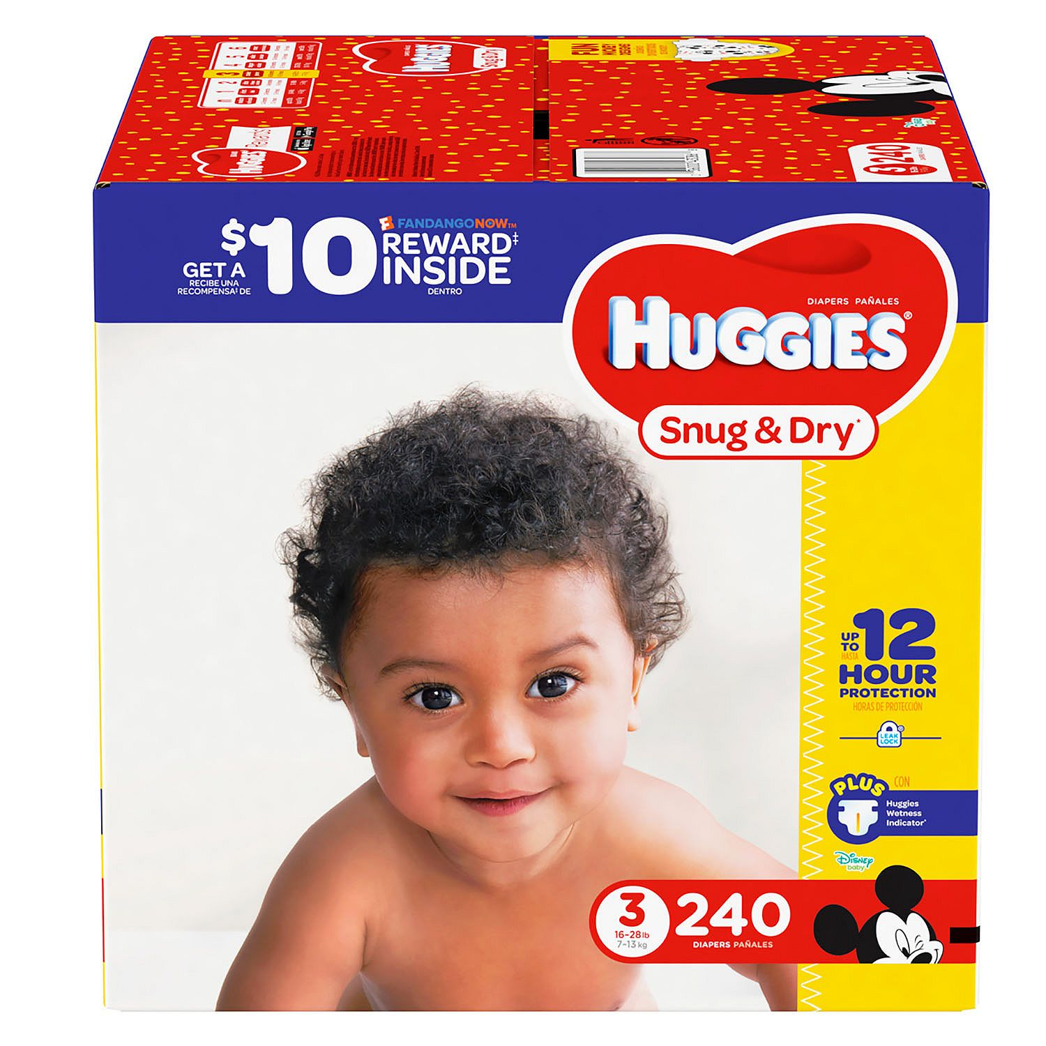 Huggies Snug & Dry Diapers Size 3 - 240 ct. ( Weight 16- 28 lbs.) - Bulk Qty, Free Shipping - Comfortable, Soft, No leaking & Good nite Diapers