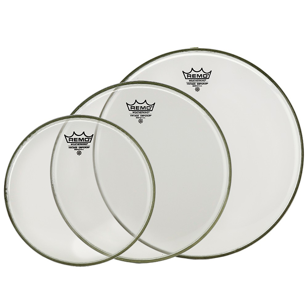 Remo Vintage Emperor Tom Drumhead Pack (Clear) 10 in. Clear
