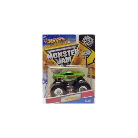 2011 hot wheels monster jam #11/80 avenger 1:64 scale collectible truck with monster jam tattoo