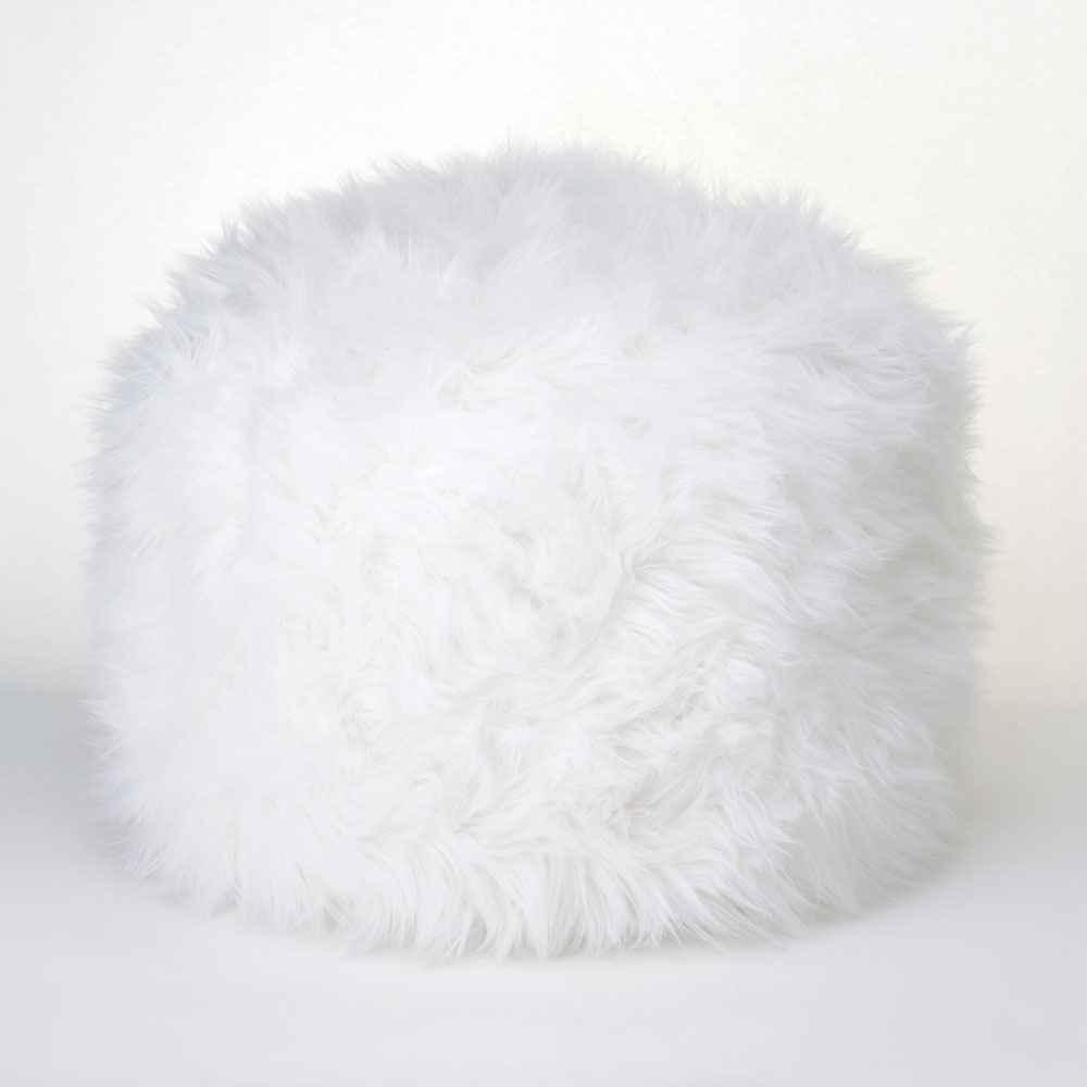 Black And White Pouf Zingz Thingz Fuzzy Pouf Ottoman Walmartcom