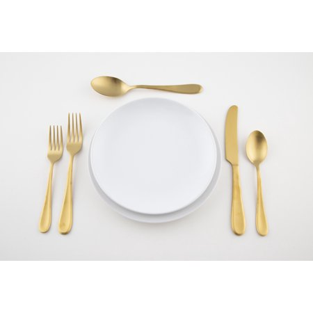 Satin Serving Flatware - Patricia Heaton Home Southampton Gold Satin 20-Piece Flatware Set, Service for 4
