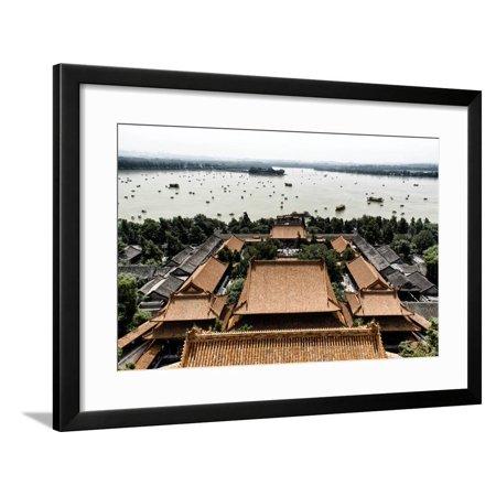 China 10MKm2 Collection - Summer Palace and Lotus Lake Framed Print Wall Art By Philippe Hugonnard