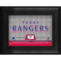 "Texas Rangers Framed 5"" x 7"" Retro Style Team Collage with a Piece of Game-Used Baseball - Fanatics Authentic Certified"