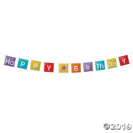 Science Party Birthday Paper Pennant Banner - Science Party