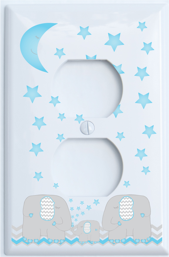 Switch Cover GARDEN HERBS High Quality Switch Plate Light Blue Background Decor