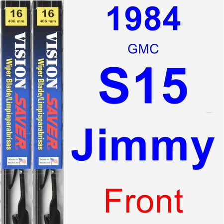 1984 GMC S15 Jimmy Wiper Blade Set/Kit (Front) (2 Blades) - Vision Saver Gmc S15 Jimmy Wiper Motor