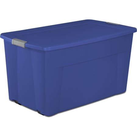 Sterilite, 45 Gal./170 L Wheeled Latch Tote, Stadium Blue, Case of 4