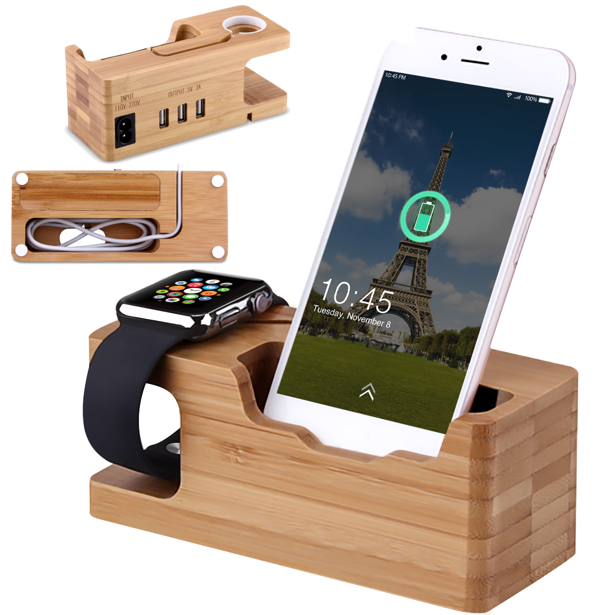 Android devices Office Desk Kitchen Apple 7-Port USB Charging Station Dock