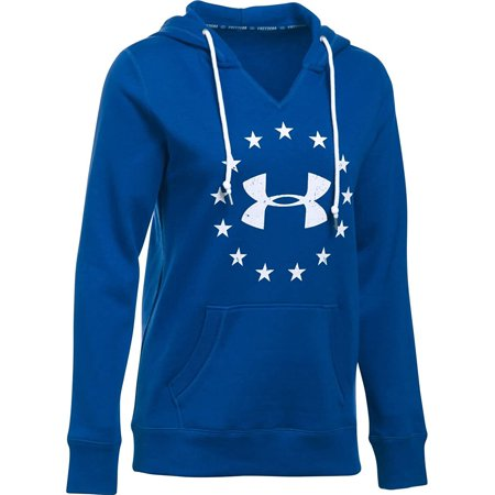 Under Armour Women's Freedom Logo Favorite Fleece Hoodie, Royal (400)/White, X-Small - image 1 of 1