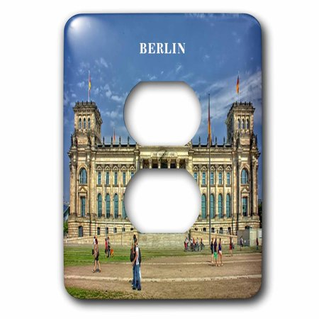 Berlin Government Buildings - 3dRose Lovely Architecture Berlin Government Building Germany - 2 Plug Outlet Cover (lsp_61938_6)