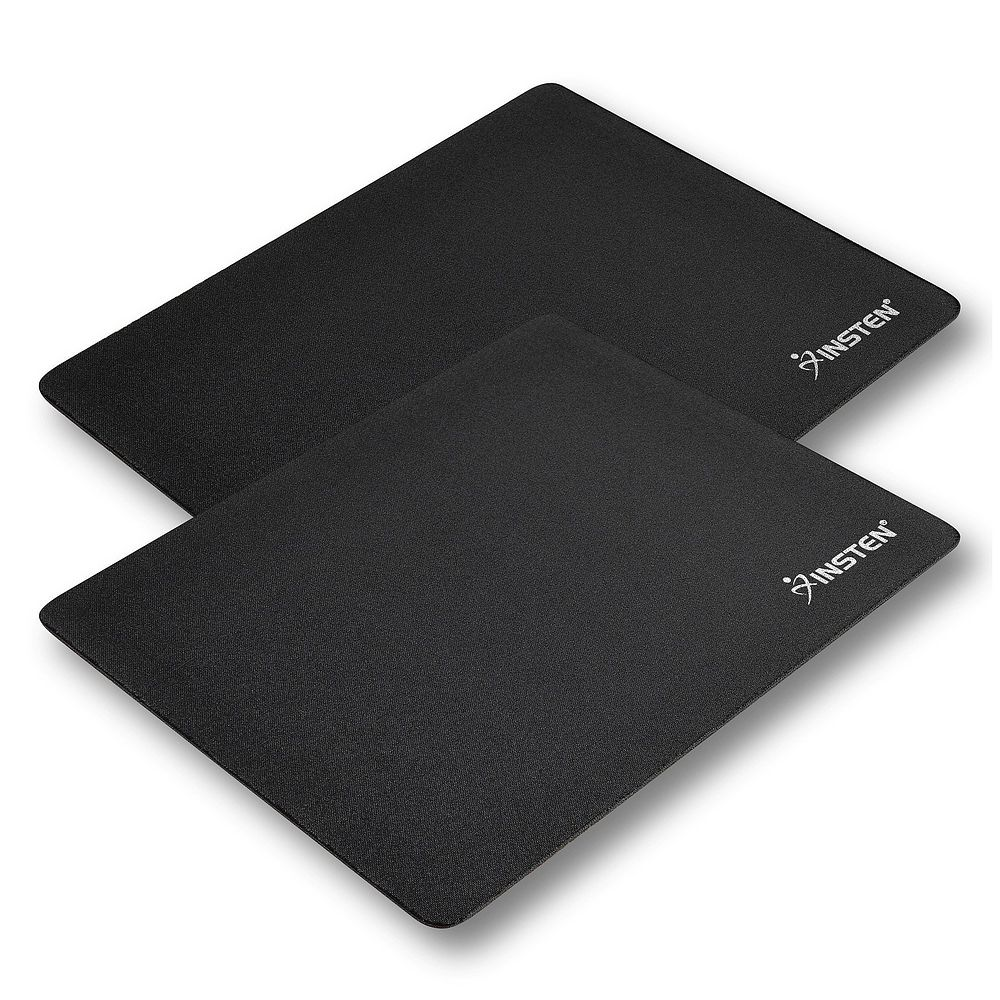 Mouse pad by Insten 2-Piece Set Mouse Pad Mousepad for Computer Desk PC Optical Trackball Mouse, Black