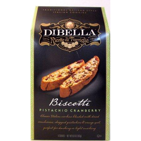 DiBella Gourmet Biscotti: Pistachio Cranberry (Pack of 3) 6.6 oz Boxes