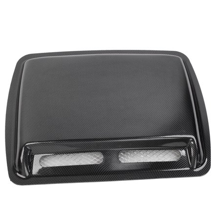 Car Air Carbon Fiber Pattern Flow Intake Vent Bonnet Cover Decor Hood (Carbon Fiber Intake Cover)
