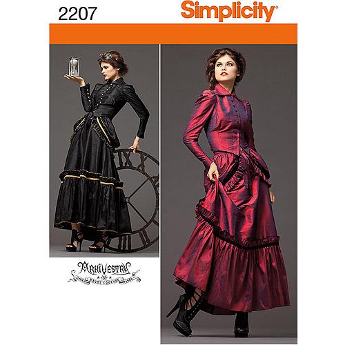 Simplicity Pattern Misses' Victorian Era Steampunk Costumes, (6, 8, 10, 12)