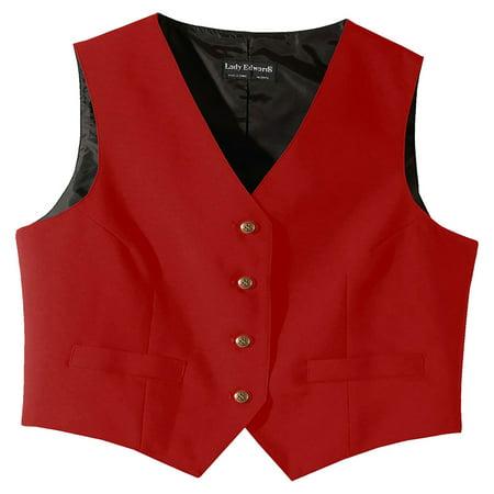 Edwards Garment Women's Fully Lined V-Neck  Economy Vest, Style 7490