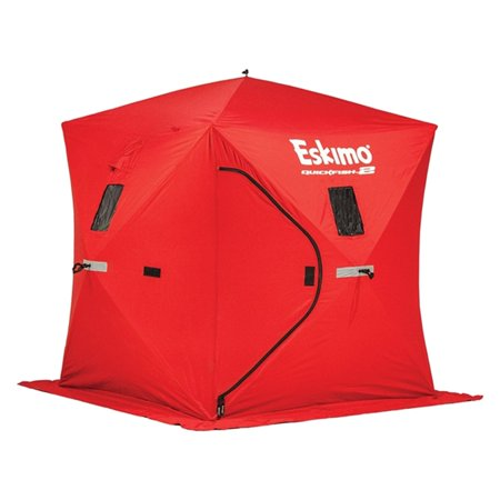 Eskimo Quickfish 2 Person Portable Pop Up Ice Fishing Tent House Shack