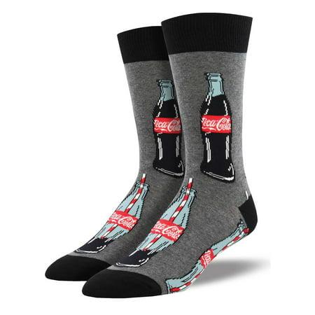 - Coca Cola Good To The Last Drop Men's Grey Socks