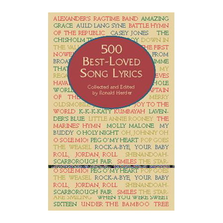500 Best-Loved Song Lyrics (Halloween Songs Lyrics For Adults)