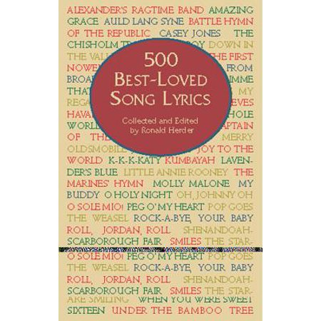 500 Best-Loved Song Lyrics - Halloween Party Song Lyrics