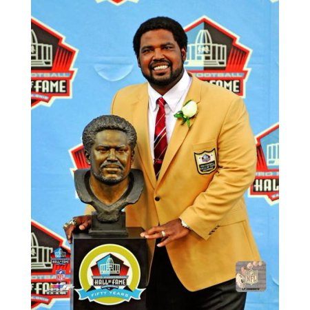 Jonathan Ogden 2013 Pro Football Hall of Fame Induction Ceremony Photo Print - Pro Football Hall Of Fame Halloween