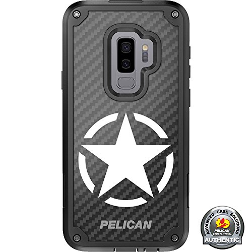 LIMITED EDITION Pelican Shield Kevlar Case for Samsung Galaxy S9+ Plus Designs by Ego Tactical with up to 24-foot drop protection: Triple Canopy- Special Forces, Ranger, Airborne