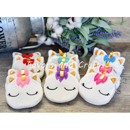 12 Unicorn Favors Coin Purse Girls Caticorn Birthday Party Bags Unicornio Nina Gift