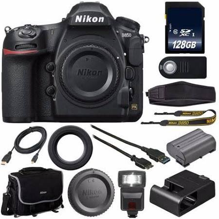 Nikon D850 Dslr Camera 128gb Sdxc Mc External Flash Hdmi