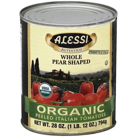 Alessi Miniature (Alessi Organic Peeled Italian Tomatoes, 28 oz, (Pack of 12) )