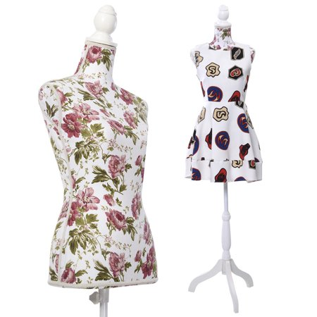 Costway Female Mannequin Torso Dress Form Display W/ White Tripod Stand - Cosplay Female Characters