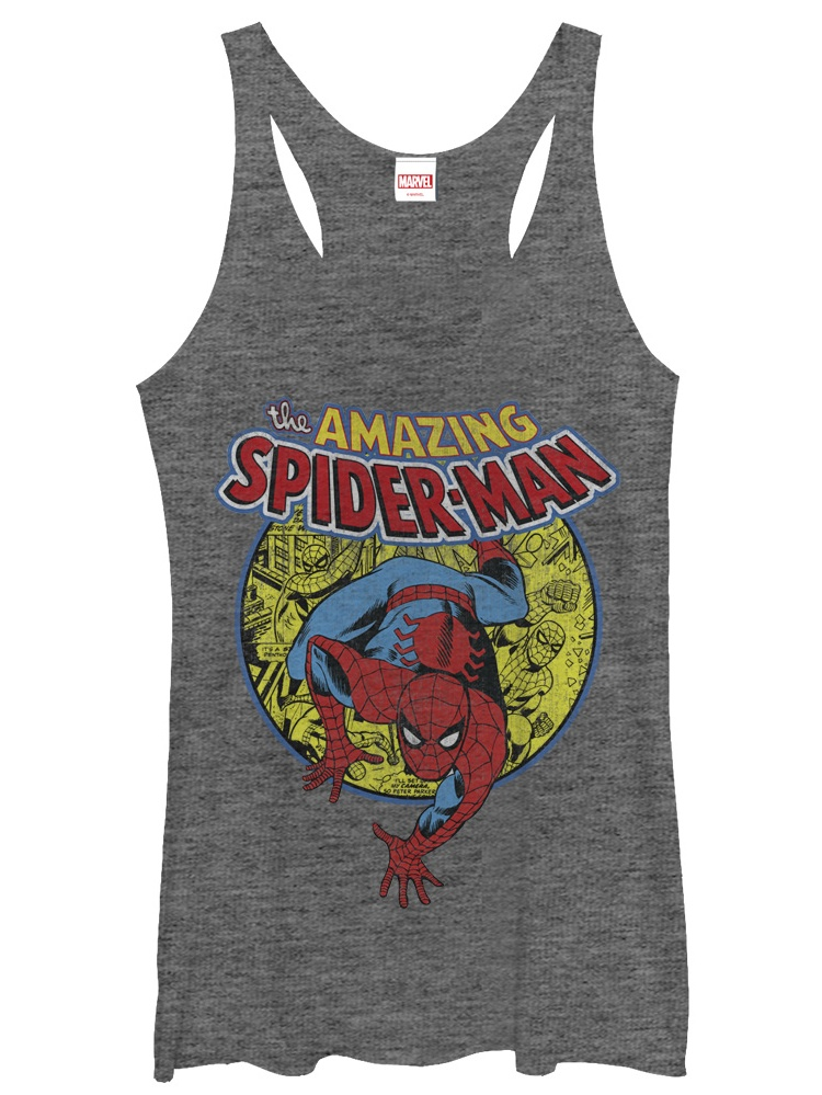 Marvel Women's Amazing Spider-Man Responsibility Racerback Tank Top