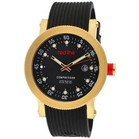 Red Line Men's Compressor Black Dial Black Silicone Watch REDLINE-643-RL-18000-YG-01