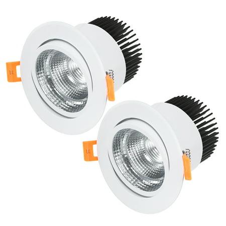 2 Pcs 108mm Dia. COB Downlight Spotlight DIY Kits White w 50mm Long Cold Forging - image 5 of 5