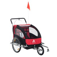 Aosom Elite II 3-in-1 Bike Trailer and Double Stroller