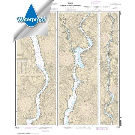WATERPROOF NOAA Chart 18553: FRANKLIN D. ROOSEVELT LAKE Northern (Franklin Silver Proof)
