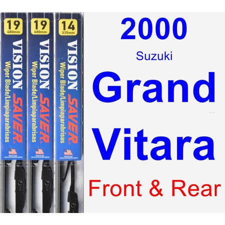 2000 Suzuki Grand Vitara Wiper Blade Set/Kit (Front & Rear) (3 Blades) - Vision